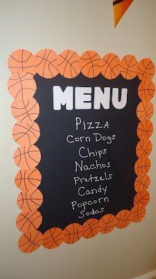 Basketball menu board