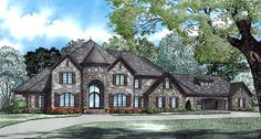 Multi-Family Plan 82177 | European   Tudor    Plan with 5043 Sq. Ft., 4 Bedrooms, 5 Bathrooms, 3 Car Garage