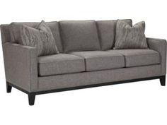 Shop for Thomasville Markham Sleeper Sofa, T100-12SLC, and other Living Room Sofas at Bacons Furniture in Sarasota and Port Charlotte, FL. Loose Pillow Back *Premium Fiber Back Pillow *Loose Seat Cushion *Comfort Crown Seat Cushion *Standard Throw Pillows: 2-#20E (Luxury Down Fill) *Standard Nail Trim: Brushed Nickel *Standard Finish: #142 (Mink).