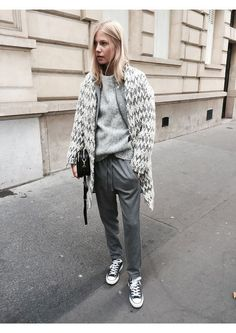 grey, style, fashion, street style, france, autumn