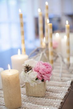So pretty for a winter wedding #wedding #winter #centerpiece #details #decor #tablescape
