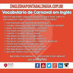 Vocabulário de carnaval em inglês!