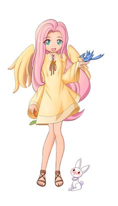 If I had pink hair, impossibly thin legs, wings, blue eyes, and an affinity with animals, this would be me.
