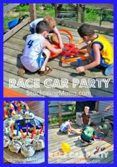 Throw a party your Hot Wheels-crazed son will love with these race car party ideas - fantastic ideas for Lego party also Hot Wheels Birthday, Hot Wheels Party, Race Car Birthday, Race Car Party, Birthday Ideas, 5th Birthday, Birthday Parties, Race Car Themes, Car Themed Parties