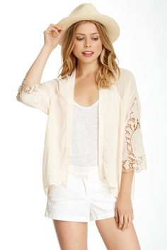 Embroidered Crochet Open Cardigan by Flying Tomato & Jealous Tomato on @HauteLook