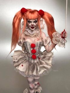 Sexy Clown Costume, Funny Halloween Costumes, Halloween Horror, Halloween 2018, Halloween House, Halloween Cosplay, Diy Costumes, Halloween Makeup, Happy Halloween