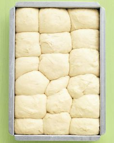 Even beginner-level bakers will have no trouble making these fluffy rolls; the dough can be prepped, put in the pan, and chilled up to a day ahead. | Martha Stewart