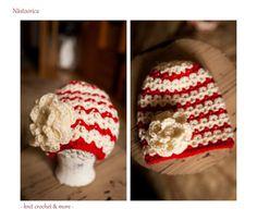 Crochet Hat Flower Beanie Red and White Hat Baby girl hat Crochet Hat Baby Girl Hats, Girl With Hat, Hat Flower, Cute Hats, Hat Crochet, Knits, Red And White, Shops, Beanie