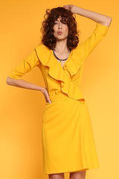 #furelle #furellefashion #furellestyle #style #fashion #designer #fashiondesigner #takaja #beyourself #woman #womanfashion #fashionity #womanity #womanhood #takaja #springsummer #2017 #colors #lovetocolor #feminine #woman #whiteblouse #yellow# Elle Fashion, Womens Fashion, 2017 Colors, Colours, Wrap Dress, Feminine, Spring Summer, Summer Dresses, Fashion Design
