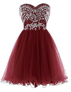 Sweetheart Tulle Homecoming Dress With Beading,Short Prom Dresses Christmas Cocktail Dresses, Short Cocktail Dress, Christmas Dresses, Black Tulle Dress, Purple Dress, Homecoming Dresses, Dress Prom, Wedding Dress, Shopping