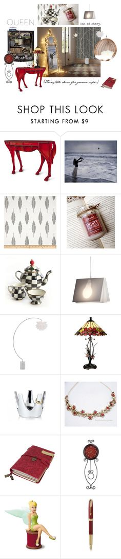 """""""Queen. End of story."""" by annacullart ❤ liked on Polyvore featuring interior, interiors, interior design, home, home decor, interior decorating, ibride, MacKenzie-Childs, Tecnolumen and Possini Euro Design"""
