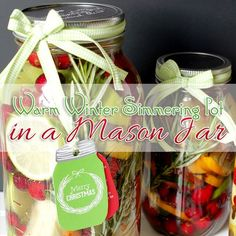 If you are looking for some fun handmade gift ideas...check out today's post Mason Jar Gift DIY Warm Winter Simmering Pot Project and Candles! Seasonal FUN