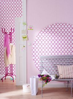 1000 images about diy tapeten einmal anders on pinterest wands wallpapers and deko. Black Bedroom Furniture Sets. Home Design Ideas