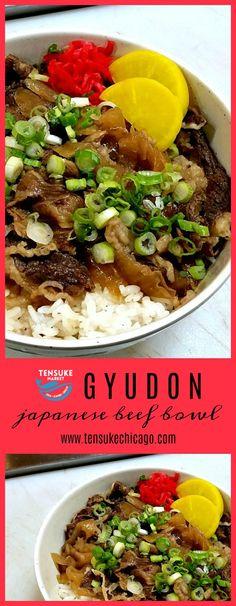 Japanese Dishes, Japanese Food, Sushi Cafe, Gyudon, Shirataki Noodles, Beef And Rice, Rice Wine, Sweet Sauce, Rice Bowls