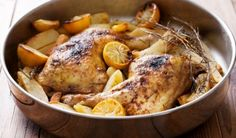 Kotopoulo Lemonato - Baked Greek Chicken with lemon & Oregano
