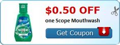 New Coupon!  $0.50 off one Scope Mouthwash - http://www.stacyssavings.com/new-coupon-0-50-off-one-scope-mouthwash-3/