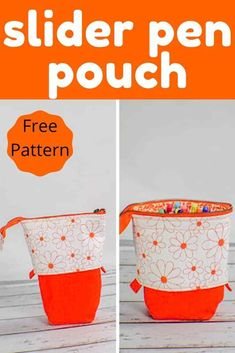 How to Make a Slider Pen Pouch - Sew Very Crafty Sewing Basics, Sewing Hacks, Sewing Tutorials, Sewing Crafts, Basic Sewing, Bag Tutorials, Fabric Crafts, Pencil Case Pattern, Pouch Pattern