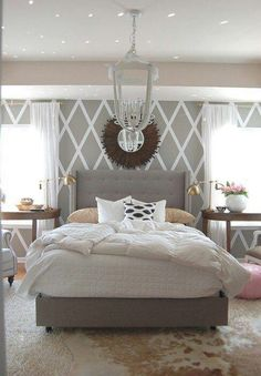 Bedroom gray and white