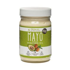 Avocado Oil Mayo from Thrive Market, made with pure and wholesome avocado oil, cage-free organic eggs and organic vinegar--no nasty trans fats or artificial ingredients!