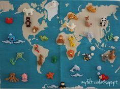 felt animals all over the world
