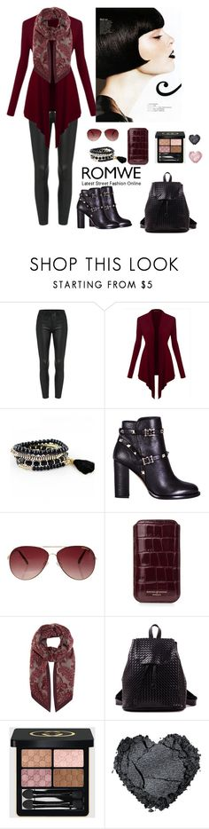 """""""Romwe 7"""" by amra-f ❤ liked on Polyvore featuring Valentino, MINKPINK, Aspinal of London, Loro Piana, Gucci, women's clothing, women, female, woman and misses"""