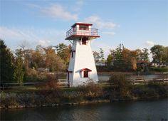 Nancy Island lighthouse [1967 - Wasaga Beach, Ontario, Canada]