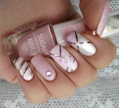 Image uploaded by ria. Find images and videos about nails, nail art and nail polish on We Heart It - the app to get lost in what you love. Fancy Nails, Pink Nails, Gel Nails, Nail Polish, Silver Nails, Toenails, Gold Polish, Nail Nail, Acrylic Nails