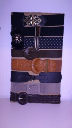 Belt storage + cardboard strip