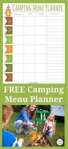 Camping Menu Planner FREE
