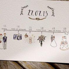 wedding timeline cards // www.stylemybridal.com