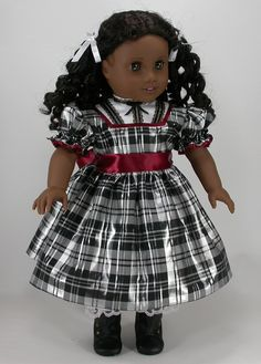 18 inch Doll Clothes for American Girl Dolls - Iridescent Snow Fall: A Christmas Dress for Addy