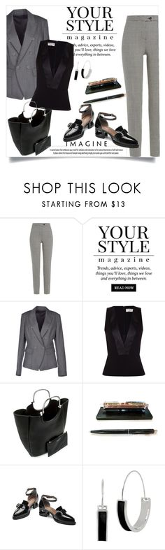 """Business Power Look"" by clotheshawg ❤ liked on Polyvore featuring Boutique Moschino, Pussycat, ck Calvin Klein, Balenciaga, 10 Crosby Derek Lam and Kenneth Cole"