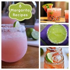 8 Margarita Recipes on @HandmadeandCraft
