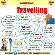 Learn phrasal verbs about things about travelling