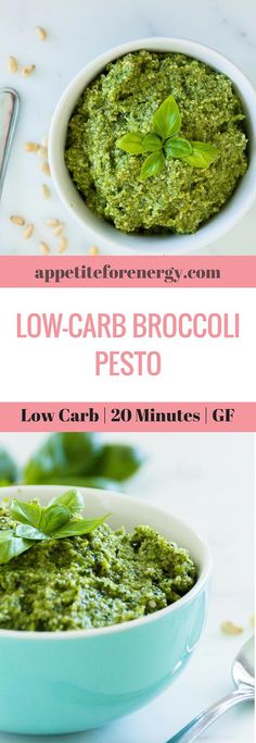 This dialed down low-carb pesto is full of broccoli goodness and is the perfect accompaniment for any protein. Make it in 20 minutes, with only 5.5g of net carbs. FOLLOW us for more 30 Minute Recipes. PIN & CLICK through to get the recipe! how to make pesto Low-carb diet ketogenic diet  keto diet  keto pesto  low carb diet pesto gluten free pesto recipe Low carb sauce recipe ketogenic sauce recipe low carb sauce #pesto #lowcarb