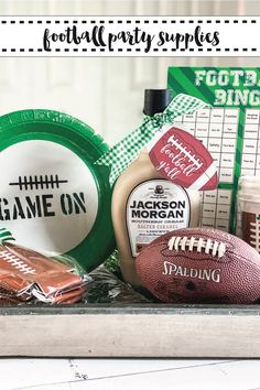 Give the perfect football party hostess gift with these tips and ideas from Everyday Party Magazine! #SipAndBeSocial #Sponsored #FootballParty #SuperBowl #FootballTags