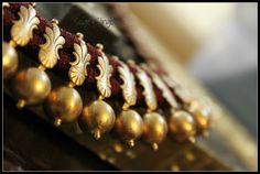 Dull gold kerala necklace- Amrapali