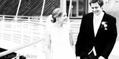 The #bride and #groom outside the #lowry hotel before the #wedding breakfast http://www.carltonadkins.co.uk/carlton-adkins-wedding-photography-blog/wedding-photography-manchester-lowry-hotel/
