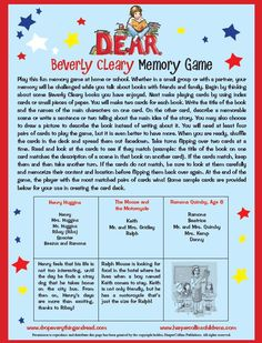 Beverly Cleary Memory Game