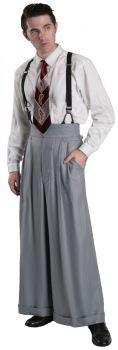 1930s Style Men's Pants Eddie Trousers Oxford Bags $235.00 AT vintagedancer.com
