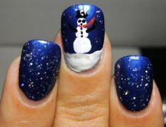 Love these - Beautiful Christmas Nail Designs, Tips and Tutorials
