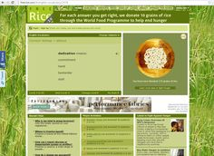 Go to FreeRice.com where you can answer triva questions. For each question you get right, they donate 10 grains of rice to the World Food Programme ( #WFP )!  It's fun and it's feeding people across the globe.  #karma