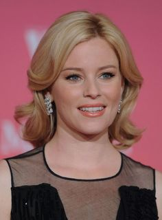 100 Best Wedding Hairstyles - Elizabeth Banks' simple waves add glam and vintage inspiration to any mid-length 'do.