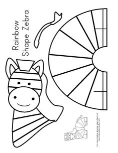Children's activity and craft templates. Paper Crafts For Kids, Arts And Crafts, Zebras, Zebra Craft, Marionette, Alphabet Crafts, Camping Crafts, Animal Crafts, Summer Crafts