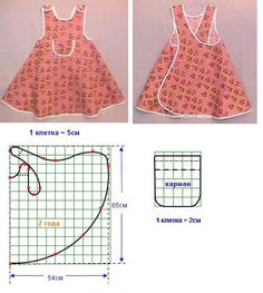 Sewing for kids clothes little girl dresses simple 17 ideas Baby Dress Patterns, Kids Patterns, Doll Clothes Patterns, Clothing Patterns, Kids Clothing, Sewing Aprons, Sewing Clothes, Diy Clothes, Sewing For Kids