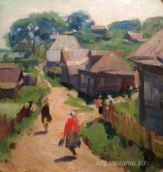 1960's 'Pechёry', by Gennady Grishin (Vyksa, Nizhny Novgorod region 1932~2009)