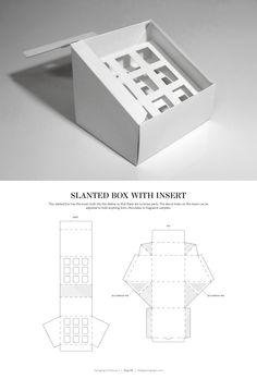 Slanted Box with Insert – structural packaging design dielines