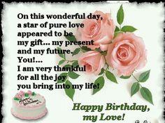 Birthday sayings for love