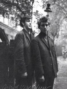 Paul McCartney, 18, and George Harrison, 17, in Hamburg, 1960
