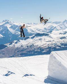 Tag your snowboard buddies that always get the shot  . . . : Laax, Switzerland : @stalesandbech : @lgennero #PeakSnowboarding #Snowboard #Snowboarding #Snowboarder #Mountain #Gnarly #Shredding #PicOfTheDay #Switzerland #BigJumps #JumpLine